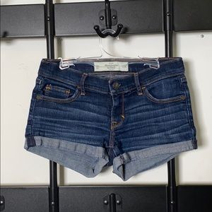 Abercrombie & Fitch Mid Rise Jean Shorts
